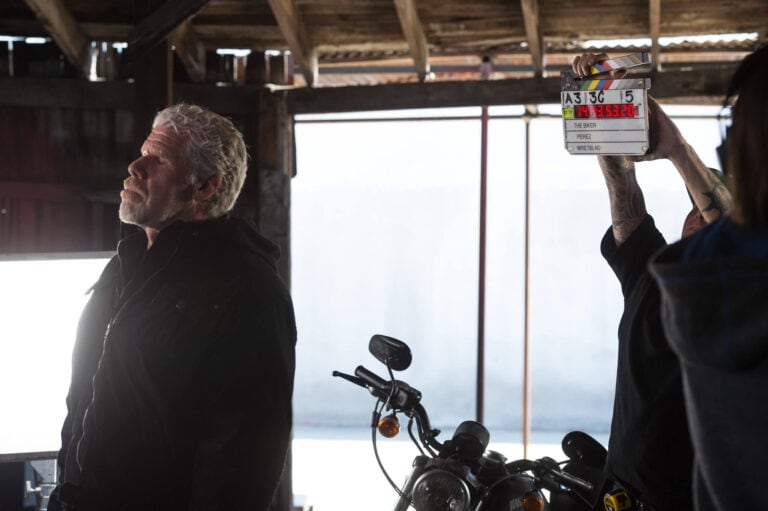 Behind the scenes photo from The Biker