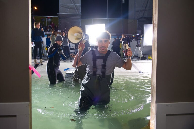 Behind the scenes still from the movie Sharknado